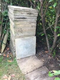 Concrete 2' x 2' paving slabs