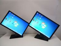 "SET OF 2 Dell e2209waf 22"" Widescreen LCD Monitor DVI VGA USB EXCELLENT CONDITION"