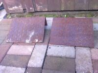 PAIR OF VERY HEAVY DUTY METAL KERB RAMPS FOR SALE. COULD DELIVER.
