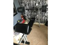 Weight bench and leg press £45
