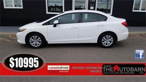 2012 HONDA CIVIC LX SEDAN - Cruise, bluetooth, only 94609km