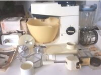 Vintage Kenwood Chef A701a Food Processor with 8 attachments!