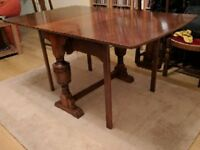 1930s Dining Table and Four Chairs