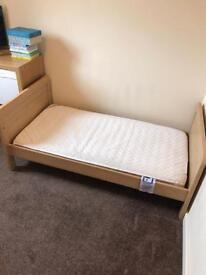 Rialto cot bed and mattress.