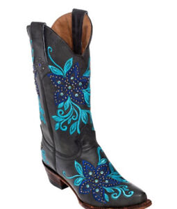 Black Star all Leather Ferrini women's cowboy boots