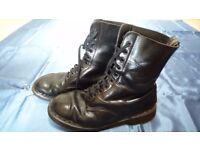 Authentic Doc Marten boots. Black. Size 10.