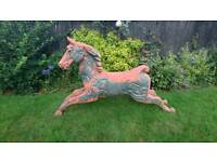 Full size vintage Anderson Replica fiberglass carousel horse Fairground *REDUCED PRICE*