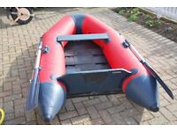 Inflatable dinghy, two years old suitable for an outboard of up to 5hp.