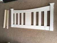 White wooden headboard for 3/4 three quarter small double size bed.