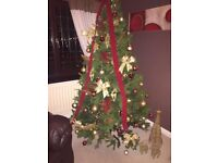 Large Christmas tree with all decorations