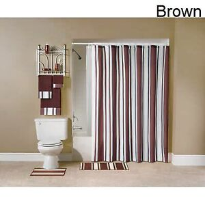 Sonoma Stripe 12pc Complete Bath Set -Sand, New