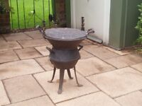 Small metal barbeque 2ft high