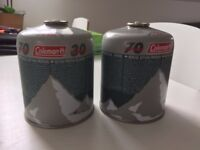 2 x Coleman C500 Gas Cartridges - NEW