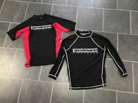 2 x evolution fightwear tops - size small