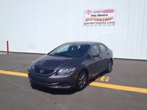 2014 Honda Civic LX Sedan with Extended factory warranty