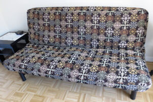 MOVING & MUST SELL - Futon Mattress and Frame - A Sofa and a Bed