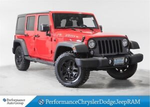 2016 Jeep WRANGLER UNLIMITED WILLY'S * Bluetooth * Dual Tops