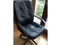 Office swivel chair faux leather
