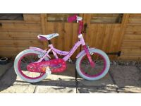 Girls bike pink angel 16 suitable for 5-6 year old