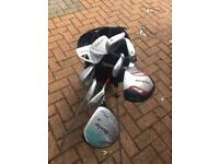 Golf club set and trolley