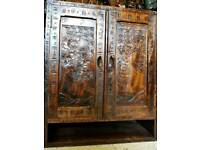 Japanese style carved cabinet