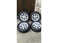Skoda Citigo/VW Up/ Seat MII 4 X Alloy wheels Fitted with Bridgestone EP25 Ecopia 175/65-14