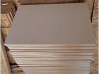 5 Pieces of NEW 15mm B/BB Grade Russian Birch Plywood 25¼in x 16in (645mm x 405mm)