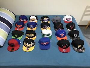 New Era and Mitchell and Ness Caps (MOST OF THEM ARE BRAND NEW)
