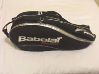 BABOLAT TEAM 6 RACKET TENNIS SQUASH RACKET BAG HOLDALL *VGC*