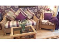 loveley wicker conservatory furniture.