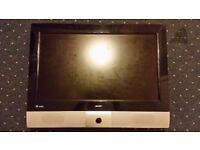 26' Wide Screen LCD TV - BUSH - for parts or repair - broken screen