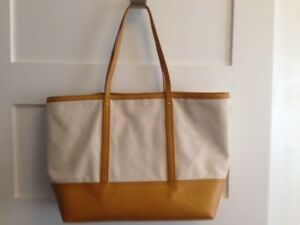 Banana Republic Canvas and Leather Tote Bag $15