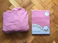 Unused dusky pink valence sheet