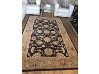 Beige/gold and Black rug