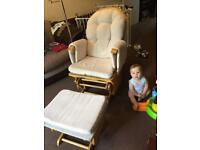 Nursing / rocking chair with foot stool