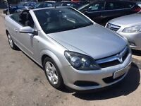 2006/56 VAUXHALL ASTRA 1.6 i 16V TWIN TOP 2 DR SILVER,LOW MILEAGE,GREAT CONDITION FUN FOR THE SUMMER
