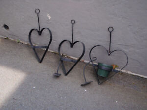 Wrought iron plant holders