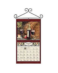NEW! SCROLL Black Wrought Iron Calendar Holder