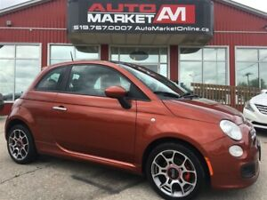 2012 Fiat 500 Sport, ALLOYS, SUNROOF, WE APPROVE ALL CREDIT