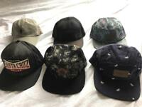 Collection of 5 Pannels, 6 Pannels, Snapbacks Hats Caps