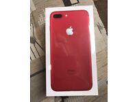 BRAND NRW SEALED IPHONE 7 PLUS RED 128GB