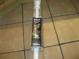 Cream wood curtain pole New & Boxed
