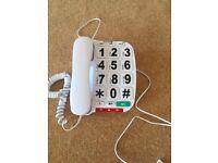 Opticom B300 large dial phone