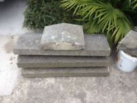 Concrete Fence Topper, Castle Coping Stone