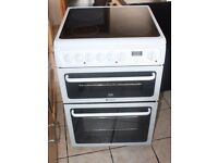 6 MONTHS WARRANTY Hotpoitn Crda 60cm, double oven electric cooker FREE DELIVERY