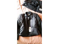 Motorbike Leathers ( NEW ) Black Armored