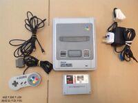 Super Nintendo Entertainment System Console & 1 Game NBA Live 96 SNES