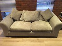 2 x Sofa in mink colour (can be sold separately) to be sold by 24/08