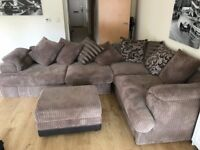L shaped fabric sofa for sale