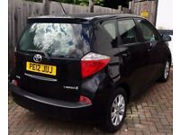 Toyota Verso S (5 seater) in black colour with very low mileage only 27000 miles and MOT passed